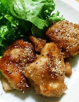 大葉ニンニク醤油 鶏もも肉